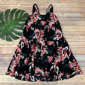 Athleta Derek Lam 10C black floral Nolita dress